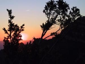 púšť, západ slnka, sandia, hory