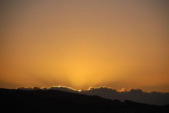 golden, sunset