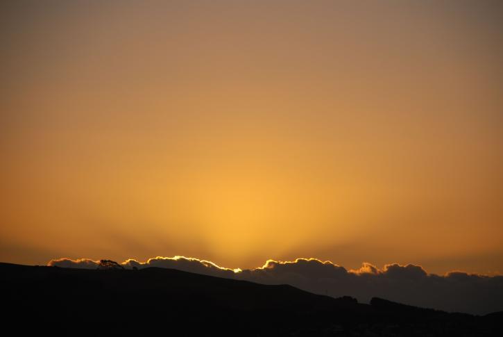 or, coucher de soleil