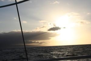 Hawai, sunset, water, sea