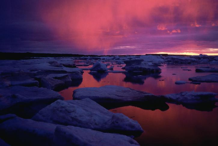 hudson, bay, sunset, Canada
