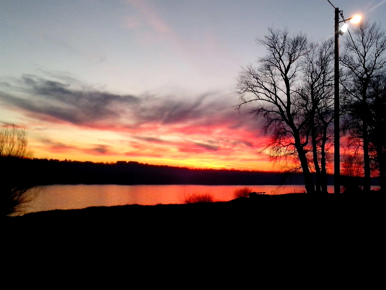Free photograph; impressive, sunset, water