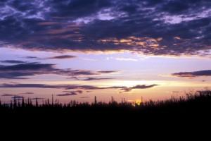 kanuti, refuge, sunset