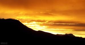 Maggio, paesaggio, tramonto, cielo
