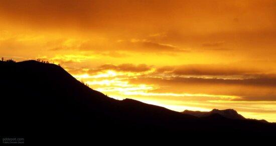 mája, príroda, západ slnka, oblohy