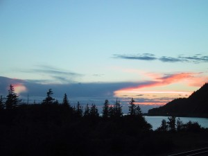 lumière du nord, coucher de soleil