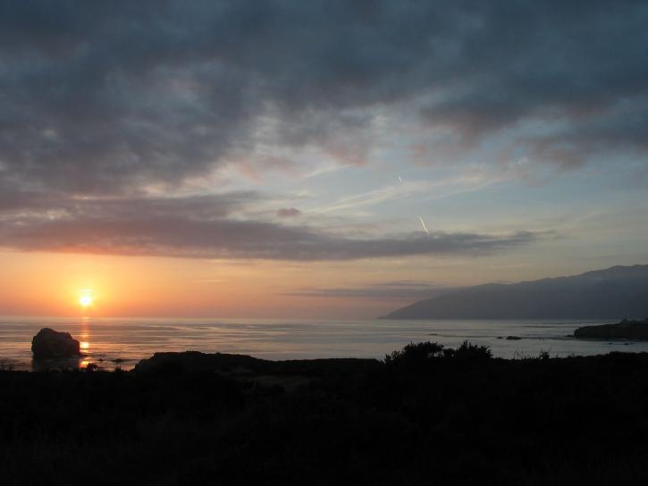 plaskett, creek, campground, sunset, ocean, clouds