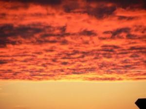 red, clouds, fire, sky