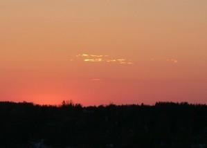 red, sky, sunset