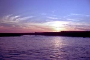 강, 일몰