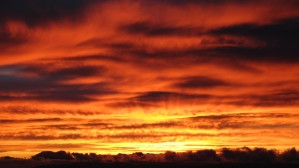 sunset, beautiful, red, orange, sky