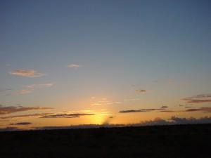 coucher de soleil, fond