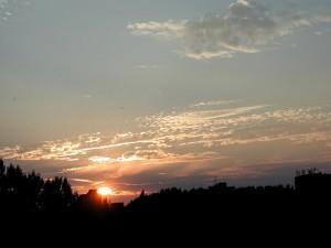 sunset, dusk