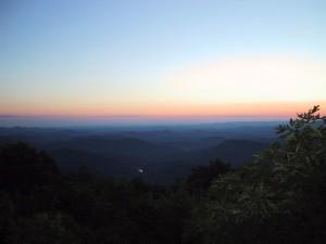 sunset, overlook