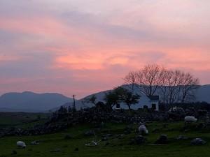 sunset, Connemara, county