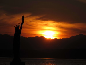 закат, Сиэтл