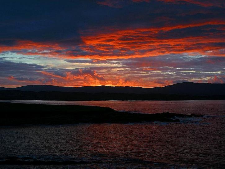 dusk, purple sky, landscape, night sky