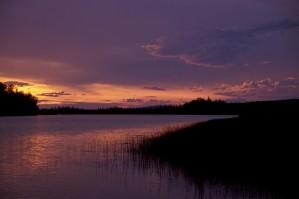 Sonnenuntergang, Innoko, Wildnis, Zuflucht