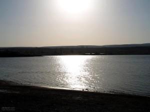 sunset, summer, lake, water reflection, Sun