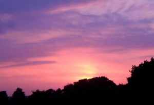 couchers de soleil, pourpre