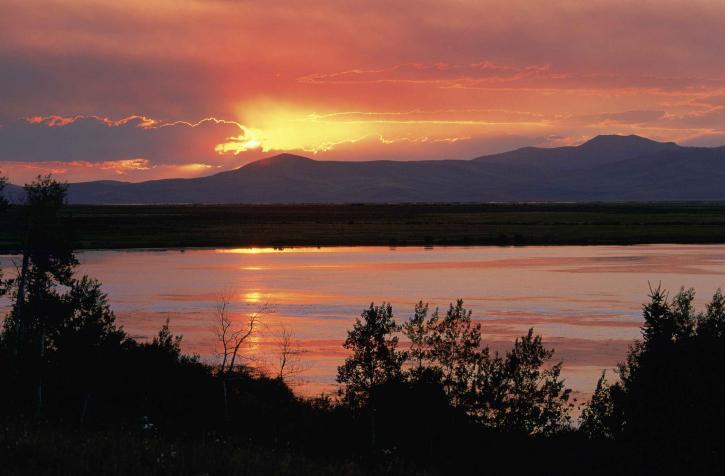 beautful, sunset, landscape