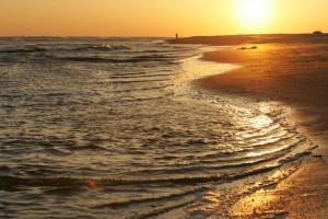 waves, caress, beach, Sun, sets