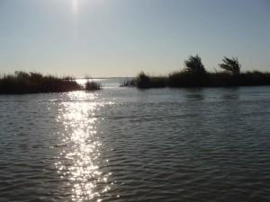 suset, boat, lake