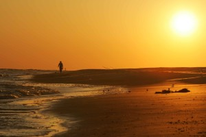 vagues, caresse, plage, jeux, ciel, scénique