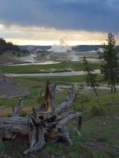Yellowstone, západy slnka