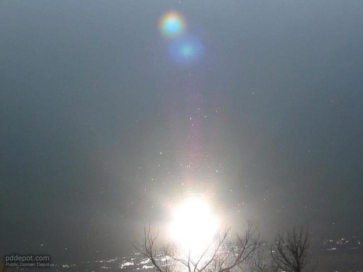 sun, reflection, water