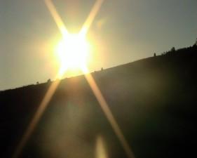 sunburst, crest, hill, scenic