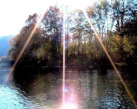sunburst, clinch, rivière