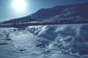 soleil, neige, scénique