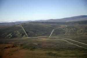 aérien, trans, Alaska, huile, pipeline