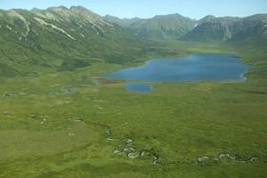 beau, montagne, vallée, lac, paysage