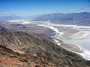 mort, vallée, sel, désert, montagnes