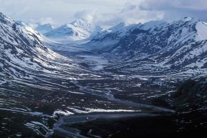 noatak, river, glacial, valley
