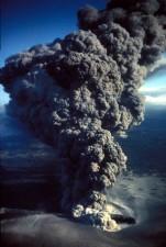 aérien, en éruption, le tabagisme, le volcan
