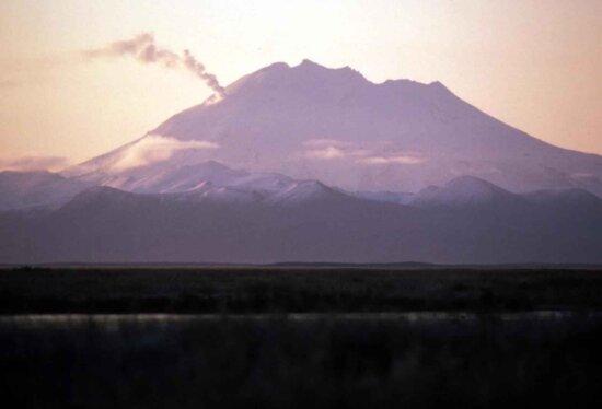alaska, peninsula, smoking, volcano