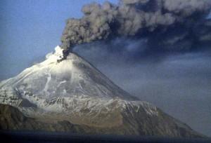 Kanaga, volcán, erupción, Kanaga, isla, Aleutianas