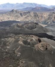 surveillance, volcanique, évents, mâchefer, cônes, Harra, Lunayyir, volcan