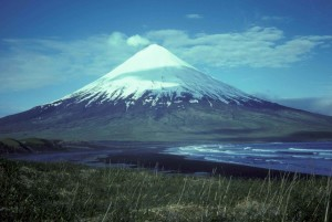 mount, cleveland, volcan, îles, quatre, montagnes
