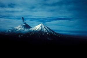 Pavlof, volcán, montaña, erupción