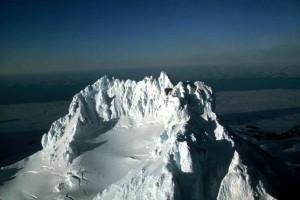 Gipfel, Vulkan, Schnee