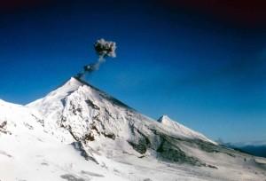 humo, levantamiento, volcán