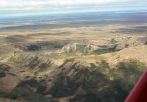 ηφαιστειακή, κρατήρας, ingakslugwat, λόφους