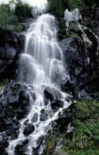 escénico, cascada, cascada, fotografiado, en el centro, Oregón