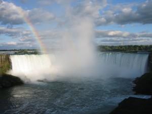 fer à cheval, chutes, arc en ciel, canadienne, côté