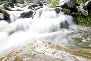természet, kis, vízesés