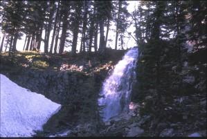 obsidienne, chutes, cascade, montagnes